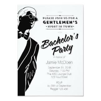 De Partij van de Vrijgezel van heren 11,4x15,9 Uitnodiging Kaart