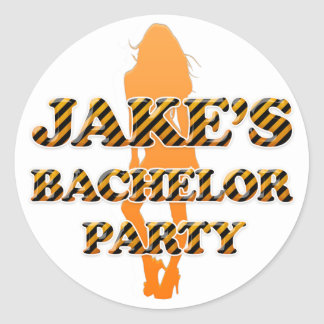 De Partij van de Vrijgezel van Jake Ronde Sticker