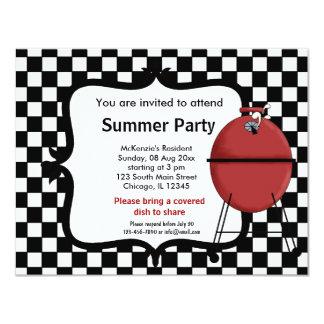 De Partij van de zomer 10,8x13,9 Uitnodiging Kaart