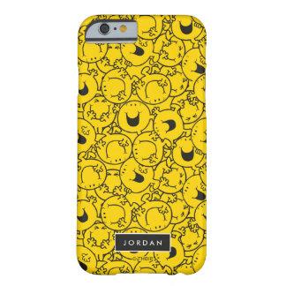 De partij van Geel Patroon   van Glimlachen voegt Barely There iPhone 6 Hoesje