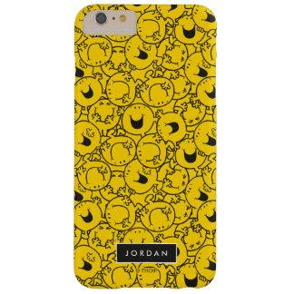De partij van Geel Patroon   van Glimlachen voegt Barely There iPhone 6 Plus Hoesje