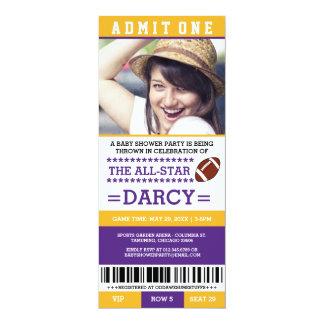 De Partij van het Baby shower van het football 10,2x23,5 Uitnodiging Kaart