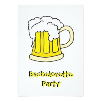 De Partij van het Bier van de vrijgezellin 12,7x17,8 Uitnodiging Kaart