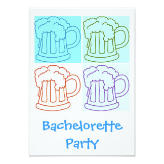 De Partij van het Bier van de vrijgezellin nodigt 12,7x17,8 Uitnodiging Kaart