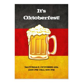 De Partij van het Bier van Oktoberfest - de Vlag 12,7x17,8 Uitnodiging Kaart