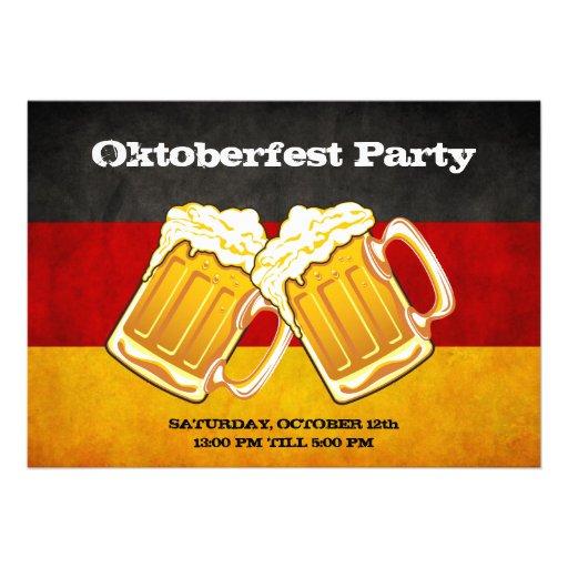 De Partij van het Bier van Oktoberfest - de Vlag v Custom Uitnodging