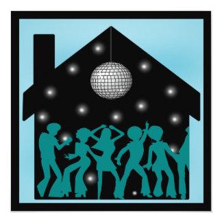 de Partij van het Huis van het Thema van de Disco Kaart