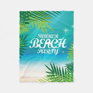 De Partij van het Strand van de zomer Fleece Deken