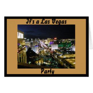 De Partij van het Thema van Las Vegas Wenskaart
