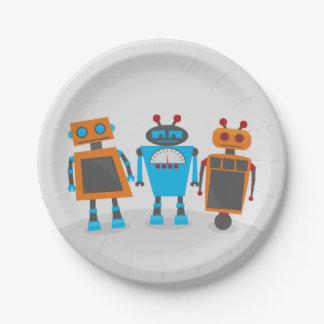 De Partij van het Trio van de robot Papieren Bordje