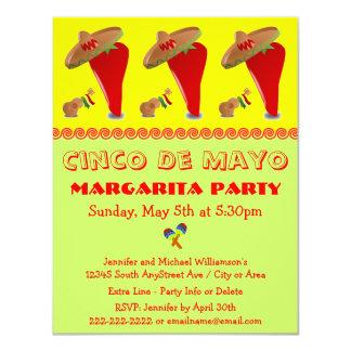 De Partij van Margarita Cinco DE Mayo van de 10,8x13,9 Uitnodiging Kaart