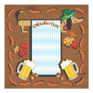 De Partij van Oktoberfest met tekkel 13,3x13,3 Vierkante Uitnodiging Kaart