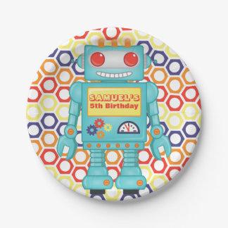 De Partij van Themed van de robot Papieren Bordje