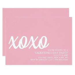 De Partij van Valentijn nodigt - xoxo uit Kaart