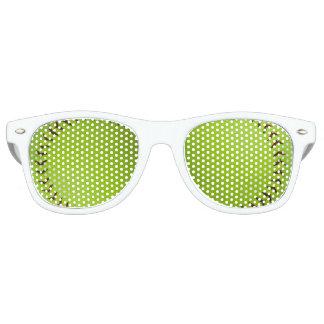 De partijschaduwen van het softball retro zonnebril