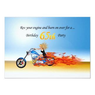 de partijuitnodiging van de 65ste verjaardags 12,7x17,8 uitnodiging kaart