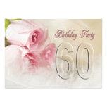 De partijuitnodiging van de verjaardag 60 jaar gepersonaliseerde uitnodiging