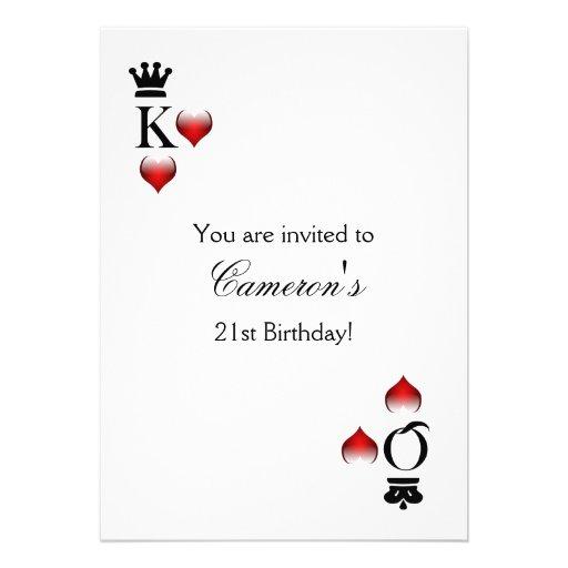 De partijUitnodiging van het casino Persoonlijke Aankondiging