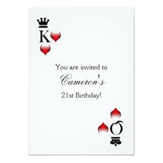 De partijUitnodiging van het casino 12,7x17,8 Uitnodiging Kaart