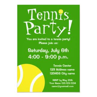 De partijuitnodigingen van het tennis voor 12,7x17,8 uitnodiging kaart