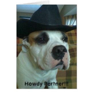 De partnerwenskaart van Howdy Kaart