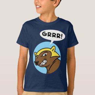 """De Pas """"GRRR van herten!"""" T-shirt: Blauw T Shirt"""