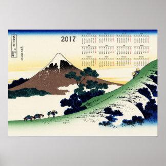 De pas van Inume in de provincie Kai Poster