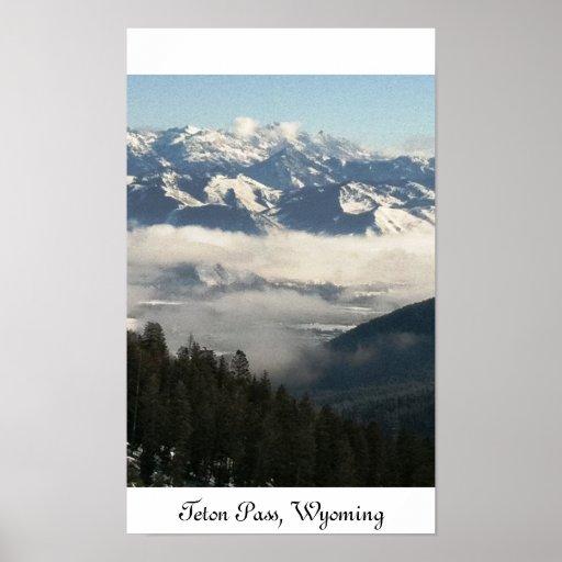 De Pas van Teton, Wyoming Afdruk