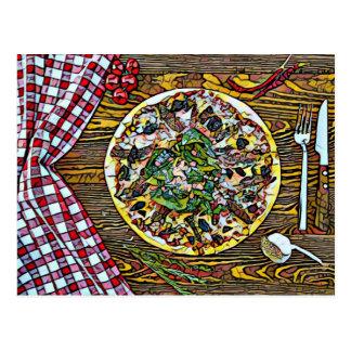 De pasteiperfectie van de pizza voor briefkaarten