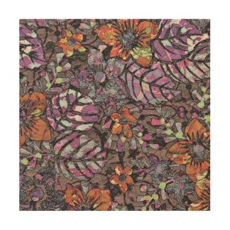 De pastelkleur kleurt bloemenpatroon romantisch hout afdruk