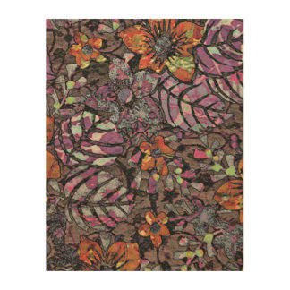 De pastelkleur kleurt bloemenpatroon romantisch hout print