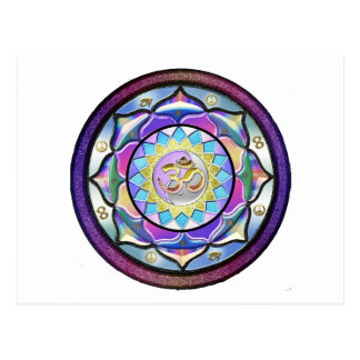 De pastelkleur mag Mandala verrassen Briefkaart