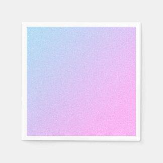 De pastelkleur Ombre schittert Wegwerp Servetten