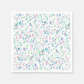 De pastelkleur ploetert de Druk van Confettien Papieren Servetten