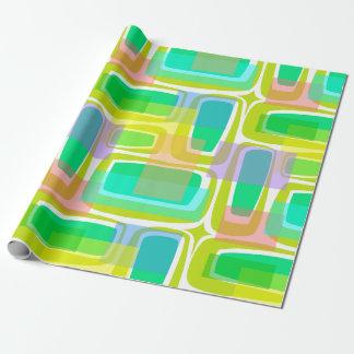 De Pastelkleur van de Eeuw van mod. Inpakpapier
