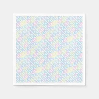 De Pastelkleur van de Meermin van de regenboog Papieren Servetten