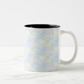 De Pastelkleur van de Meermin van de regenboog Tweekleurige Koffiemok