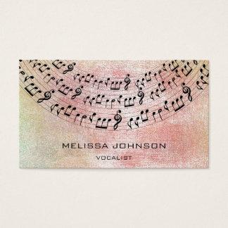 De Pastelkleur van de Perzik van de Pianist van Visitekaartjes