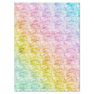 De Pastelkleuren van de regenboog met Grafische 43,18 X 58,42 Cm Zijdepapier