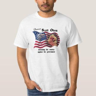 De patriot Scott Olsen, bezet Oakland T Shirt