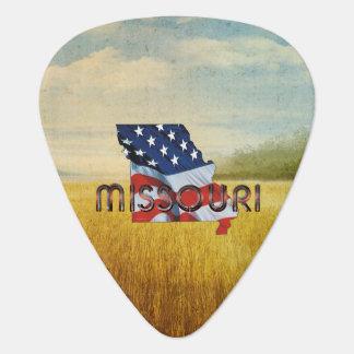 De Patriot van Missouri van het T-SHIRT Gitaar Plectrum 0