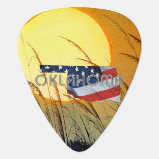 De Patriot van Oklahoma van het T-SHIRT Gitaar Plectrum