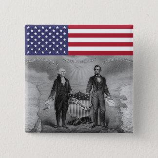 De Patriotten de V.S. van George Washington Vierkante Button 5,1 Cm