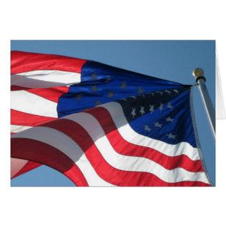 De patriottische Amerikaanse Kaart van de Nota van