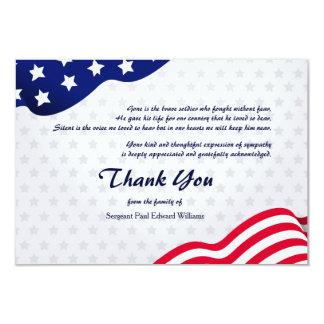De patriottische Begrafenis van de Vlag dankt u Kaart