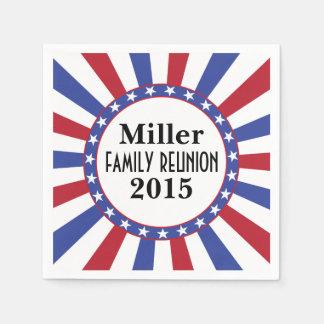 De patriottische Bijeenkomst van de Familie Papieren Servetten
