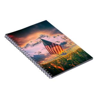 De Patriottische Foto van de Foto van de douane Notitieboek