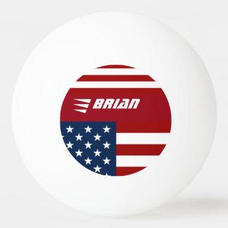de patriottische gepersonaliseerde vlag van de pingpongballen