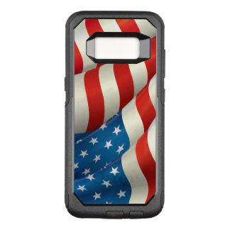De patriottische Golvende Vlag van de V.S. OtterBox Commuter Samsung Galaxy S8 Hoesje