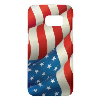 De patriottische Golvende Vlag van de V.S. Samsung Galaxy S7 Hoesje